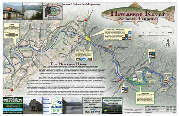 Fly Fishing Tennessee Map.Tennessee Fishing Maps And Tn Fishing