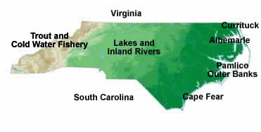 North Carolina Fishing Maps and Charts