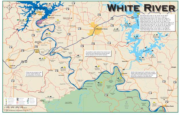 White River Arkansas Map My Blog