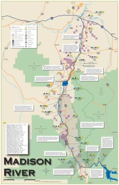Madison River Montana Map.Fly Fishing Montana And Montana Fishing Maps And River Maps