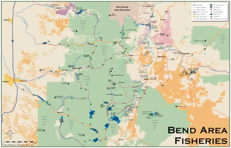 oregon fishing and or fishing maps