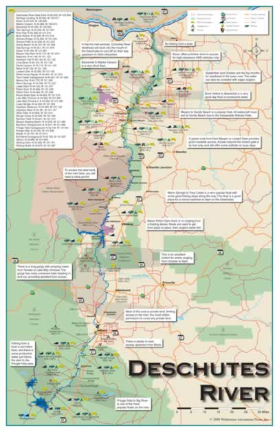 Oregon Fishing And OR Fishing Maps - Oregon rivers map