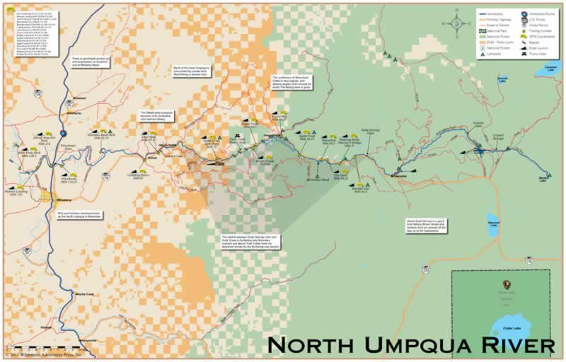 Umpqua Oregon Map.Oregon Fishing And Or Fishing Maps